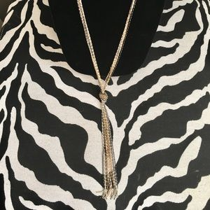 Jewelry - New multi strand necklace - gold, silver and black